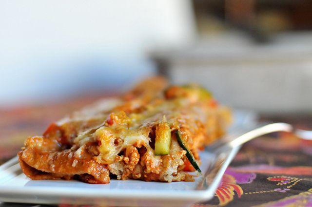SIMPLE CHICKEN AND VEGETABLE ENCHILADAS   Savoury Dishes   Pinterest