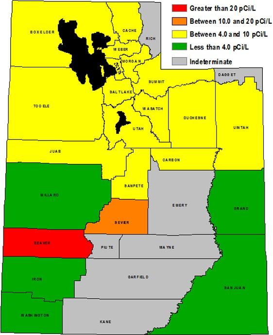 Radon Map Of Utah  Health  Pinterest