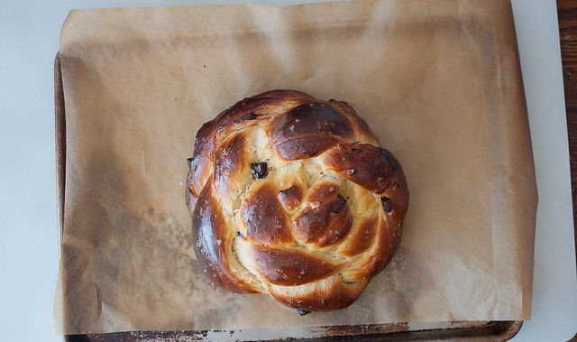 chocolate chunk and sea salt challah. @Rsm let's make this. approp for ...