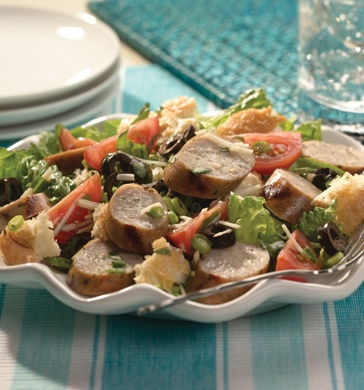 Roasted Garlic chicken sausage salad | Sausage and Salad | Pinterest