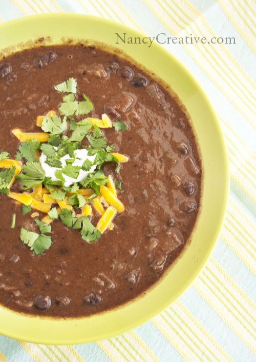 Southwestern Black Bean Soup | Fooood | Pinterest