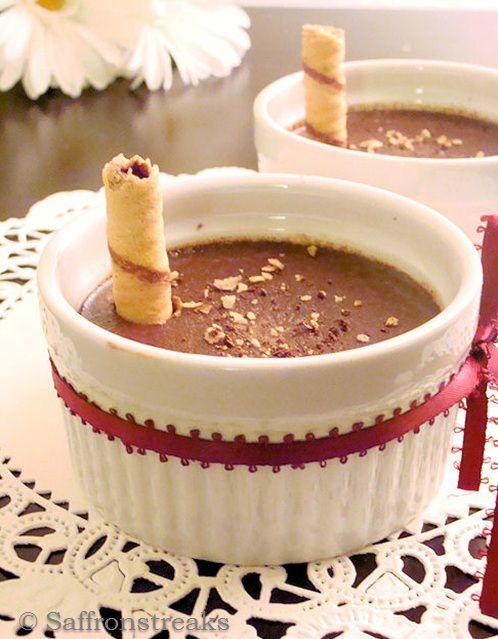 Chocolate hazelnut pots de creme | ~ Cold Sweet Treats ~ | Pinterest