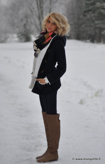 Winter Chic. Love her outfits!!