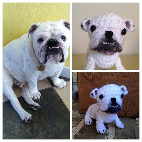 Amigurumi Bulldog Pattern : Custom amigurumi bulldog Crochet lovely things Pinterest