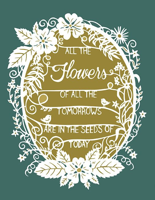 tomorrow 39 s flowers print of original papercut