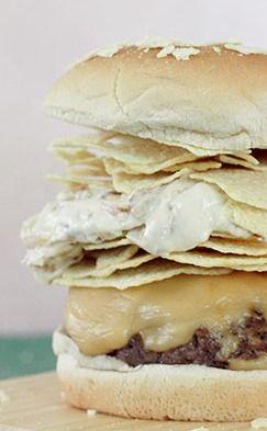 Potato Chip and Onion Dip Burgers | Recipe