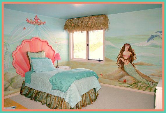 little girl 39 s mermaid bedroom claire 39 s bedroom ideas pinterest
