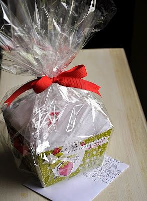 Great for large or oddly shaped gifts, cellophane wrap and tissue paper.