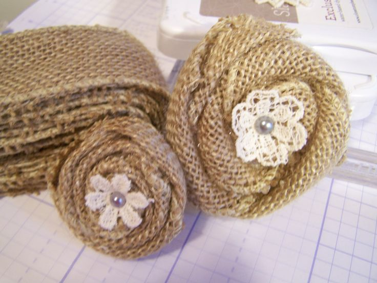 burlap ribbon flowers craft ideas pinterest