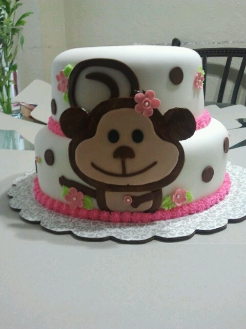 Pinterest discover and save creative ideas - Baby shower monkey theme cakes ...