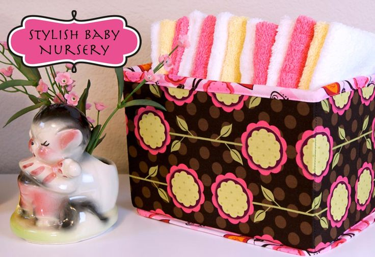 Collapsible storage baskets tutorial