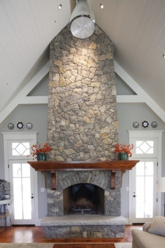 Dramatic floor to ceiling fireplace home decor pinterest - Floor to ceiling fireplace ...