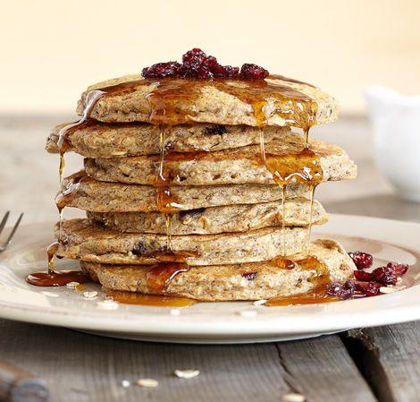 Oatmeal Cranberry Pancakes/Vitamix | Vitamix creations | Pinterest