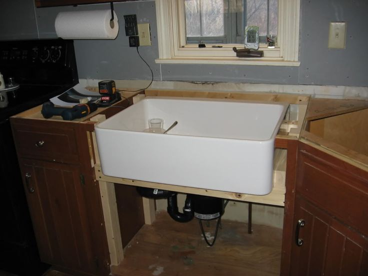 Aneboda Ikea Kleiderschrank ~   standard cabinetry to accommodate an apron front farmhouse sink