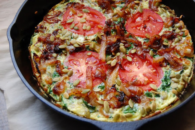 Spinach Frittata with Caramelized Onions | favorite recipes | Pintere ...