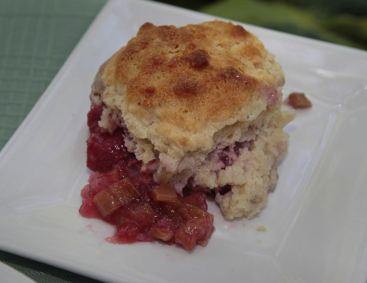 classic combo: Strawberry-Rhubarb Cobbler (Great with ice cream, too ...