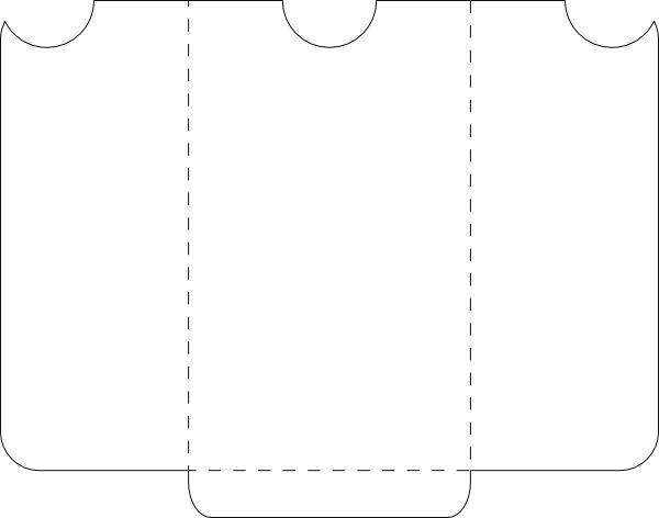 3x5 pocket envelope template organize printable pinterest. Black Bedroom Furniture Sets. Home Design Ideas