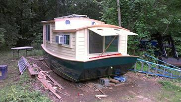 Okoume Shanty Boat | Working from a design by Harry Bryan, Annapolis ...