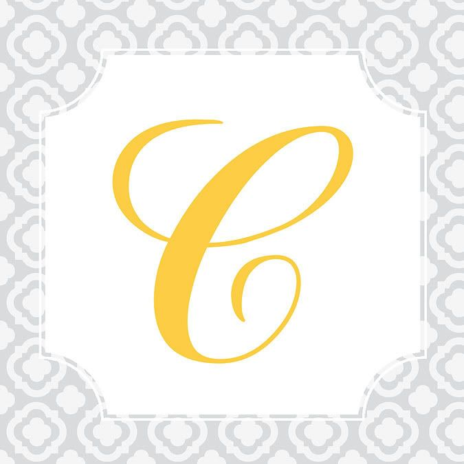 Love the monogram and colors must have or do it for Party wall letter template