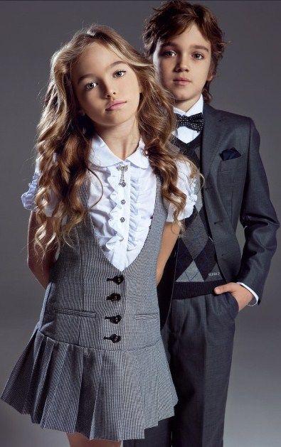Фото школьной модной формы для девочки