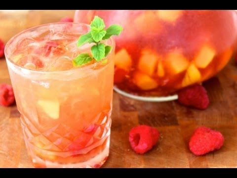 Mango Raspberry Sangria | beverage and drinks | Pinterest
