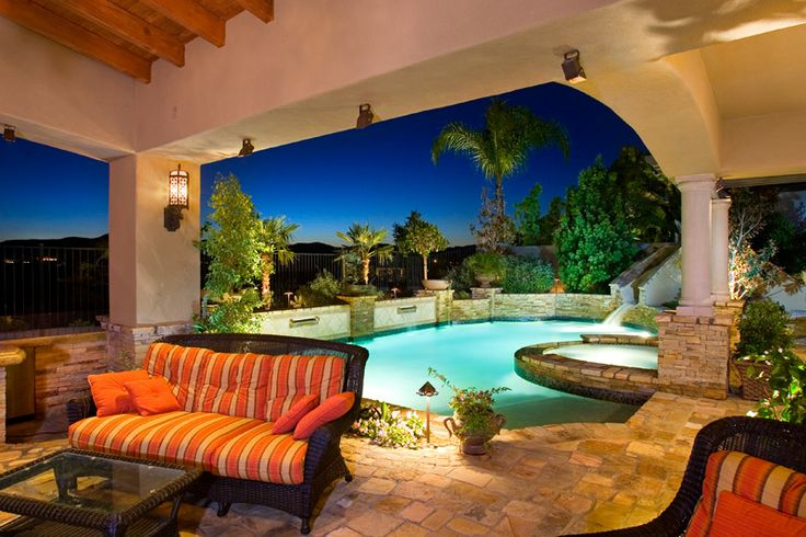 Lounge Backyard Patio Swimming Pool Ideas Pinterest