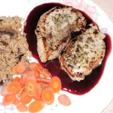 Pork Chops with Raspberry Sauce   Recipes   Pinterest