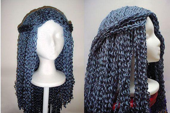 Crochet Hair Yarn : Yarn Falls Hair Crochet Fashion Wig White Queen Custom by coocoos