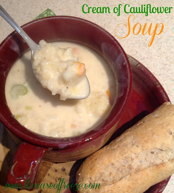 Cream of Cauliflower Soup ~ The Ease of Freeze. I had this in the dc ...