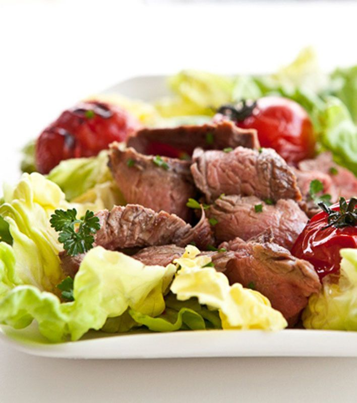 ... tomato salsa grilled steak and tomato salad with rum vinaigrette