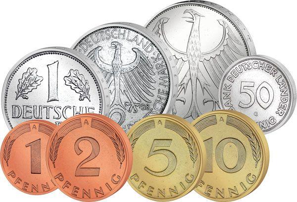 German coins, before the Euro Monedas / Coins, Billetes