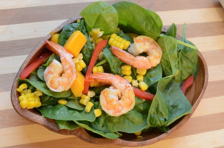 shrimp salad with spicy citrus dressing