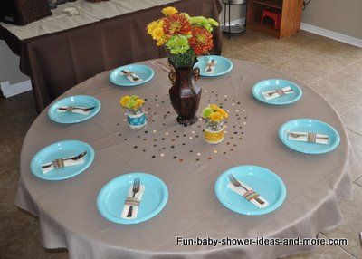 Table setting baby shower ideas pinterest Baby shower table setting
