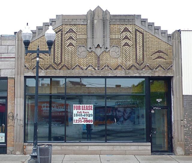 Art Deco Facade in Wicker Park  black & gold  Pinterest
