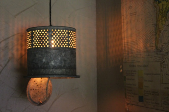 DIY Light Fixtures Bait Bucket Light Daniel Pinterest