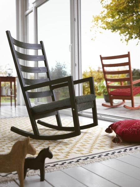 Rocking away. See more lounging outdoor furniture.