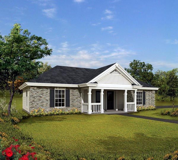 Cabin Cottage Country Ranch Traditional House Plan 86995