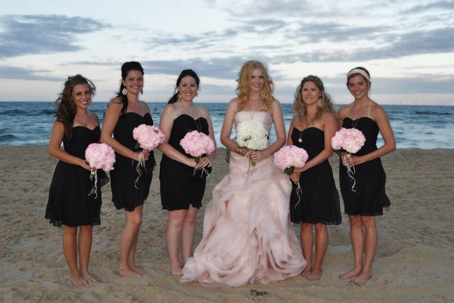 The Bridal Party On The Beach