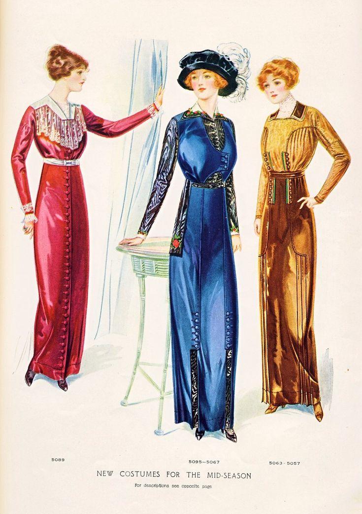 Fashion Plate - McCall's Magazine, February 1913