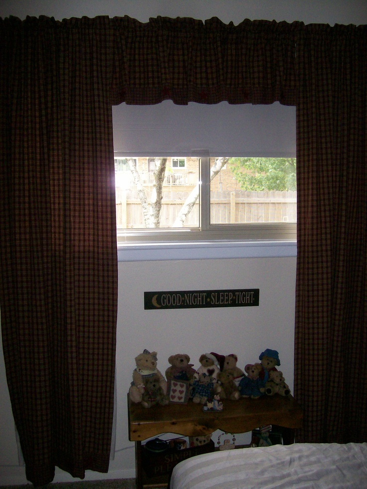 Primitive Country Curtains | Sewing | Pinterest