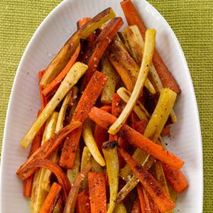 Spice-Roasted Carrots and Parsnips If I could do a done it check mark ...