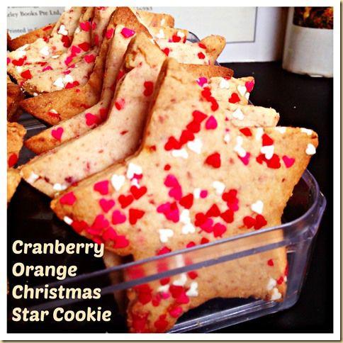 Cranberry Orange Christmas Star Cookies   Christmas Food   Pinterest