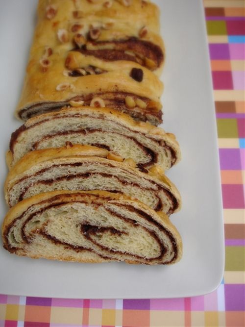 Danish chocolate-streusel-swirled coffee cake