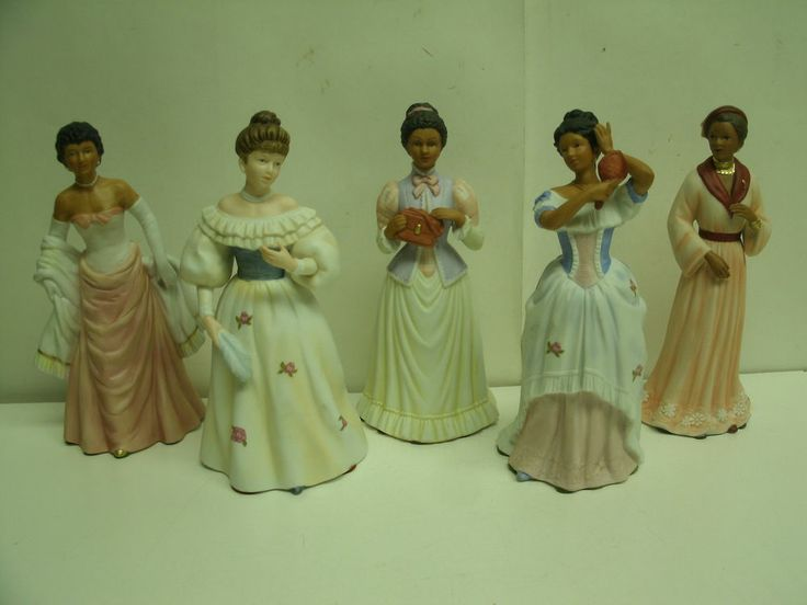 lot of 5 home interiors homco victorian lady porcelain