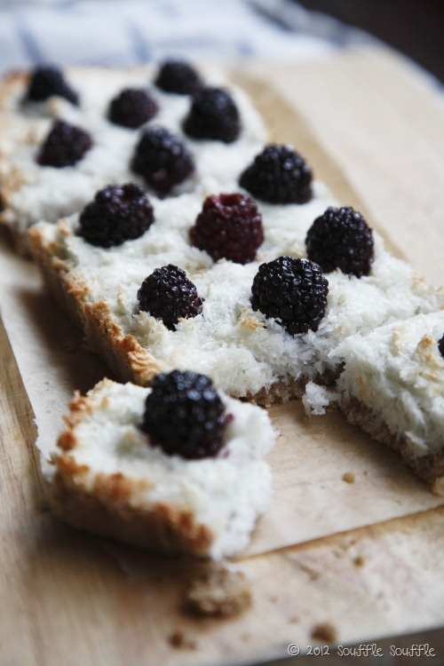 Blackberry and Coconut Macaroon Tart | Food | Pinterest