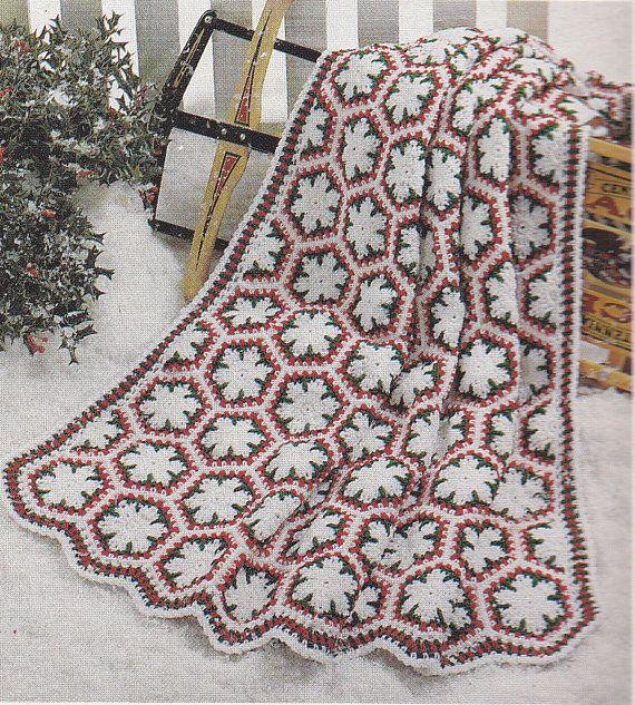 Crochet Pattern Snowflake Afghan : Snowflake Afghan Crochet Patterns - 3 Designs - Christmas ...