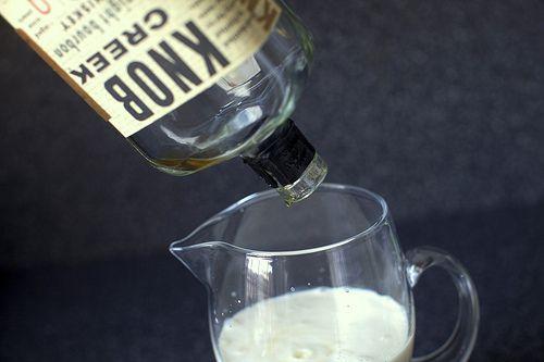 Milk punch from smittenkitchen. Milk, bourbon, powdered sugar, and ...