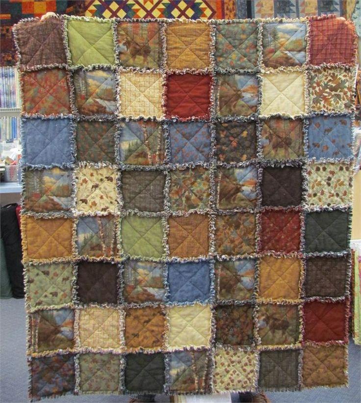 Quilt Patterns For A Man : Rag quilt for men