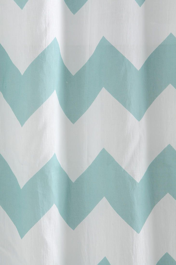 Chevron curtains for shower curtain cute for the guest bathroom maybe
