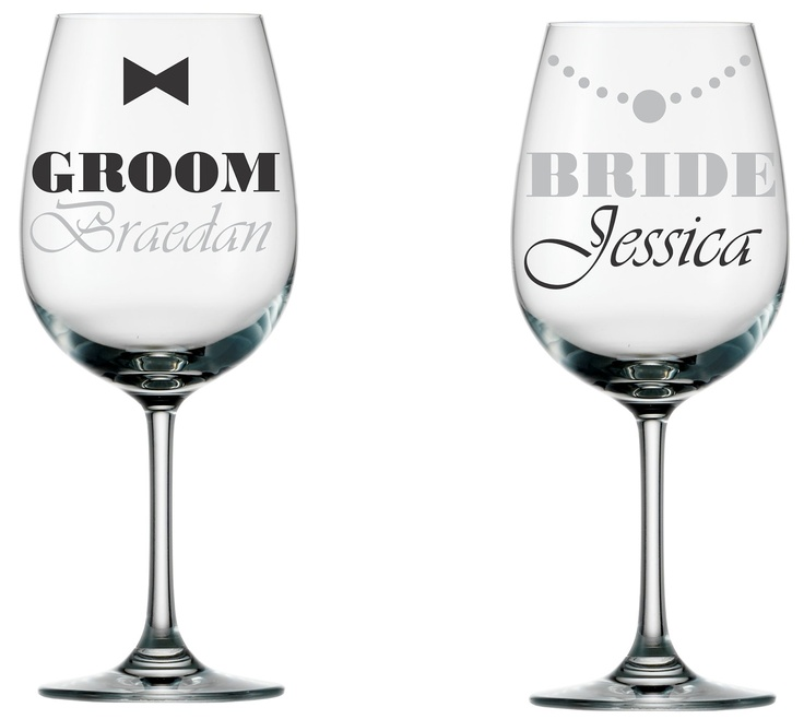 DIY wedding glass decal set